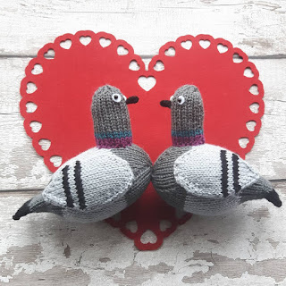 Pigeon knitting pattern by Nicky Fijalkowska