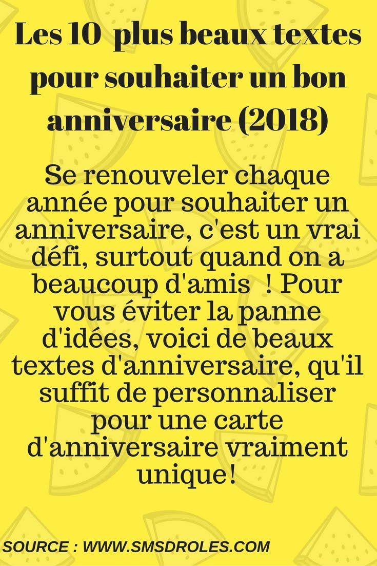 Messages Pour Souhaiter Un Bon Anniversaire Sms D Amour Et Messages Droles