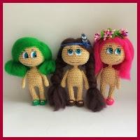 Mini muñequitas amigurumi