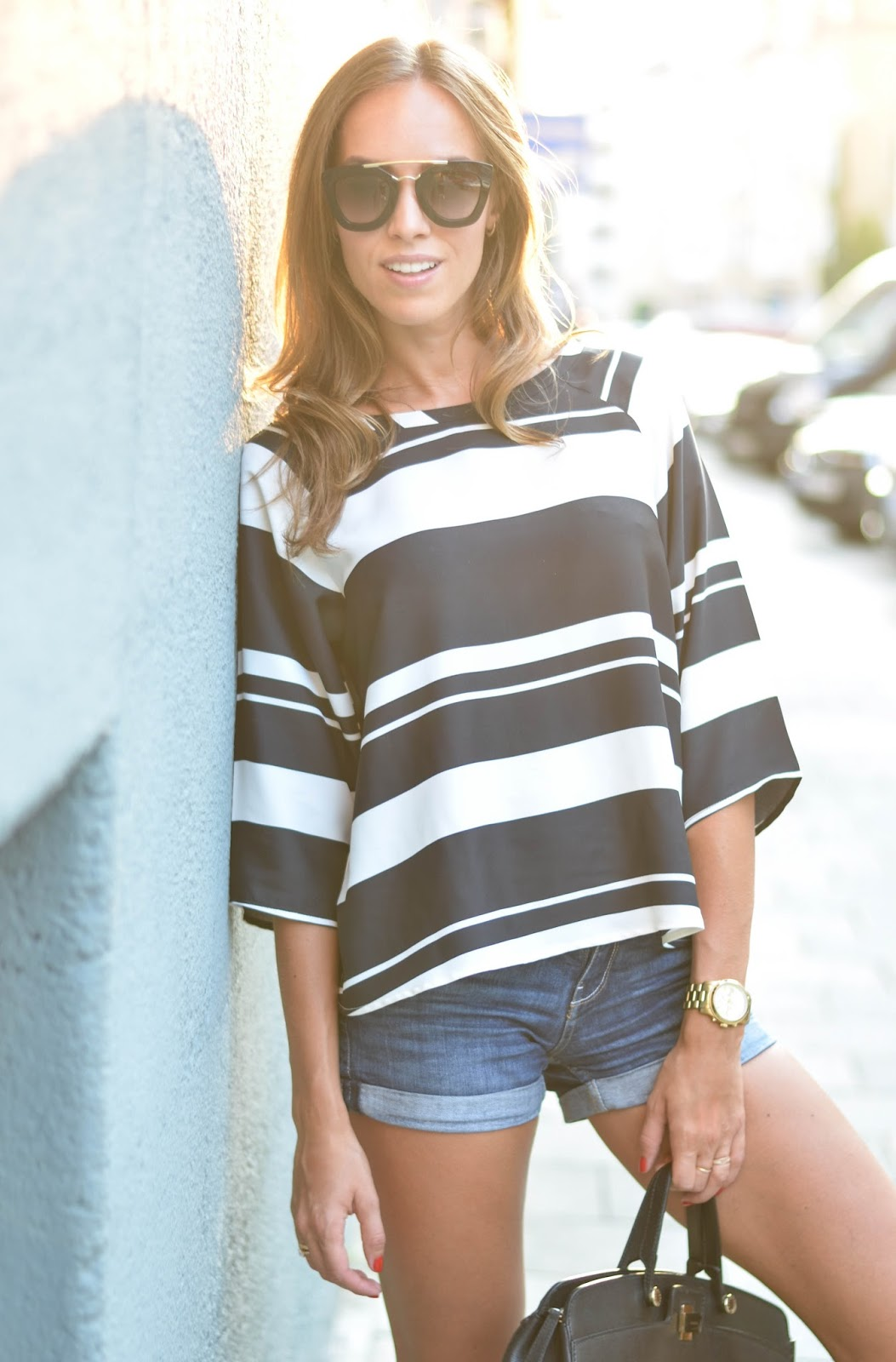 kristjaana mere striped blouse summer outfit fashion