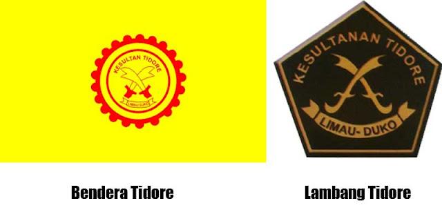 Gambar Bendera dan Lambang Tidore