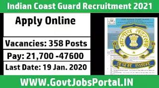 Indian Coast Guard Notification 2021
