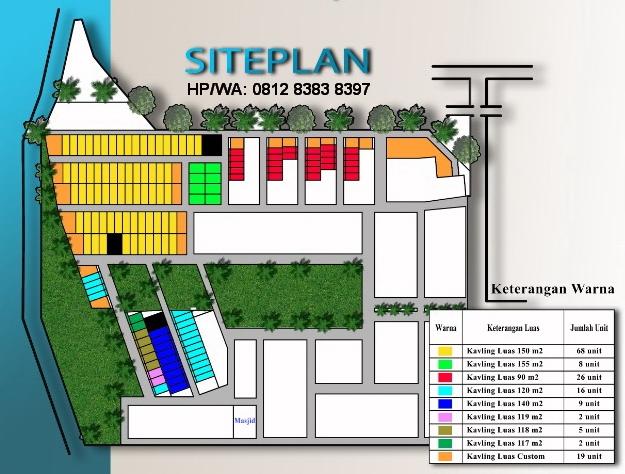 Site Plan Taman Tenera Indah Jual Rumah Murah Ready 350 JUTA DP Bisa Cicil Tipe 50 Di Karya Wisata Ujung Medan