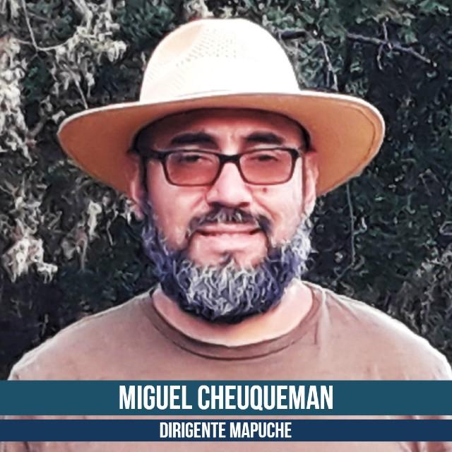 Miguel cheuqueman. Dirigente Mapuche