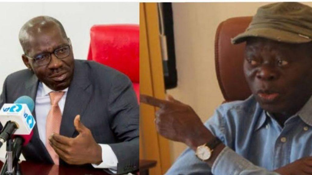 Edo elections: Oshiomhole reacts as APC disqualifies Obaseki #Arewapublisize