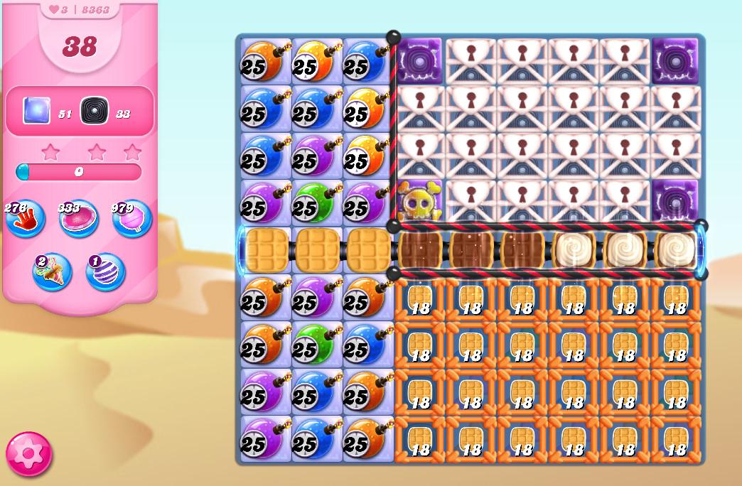 Candy Crush Saga level 8363