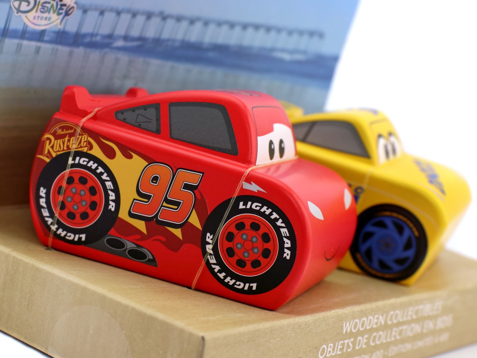 cars 3 disney store limited edition wooden collectibles