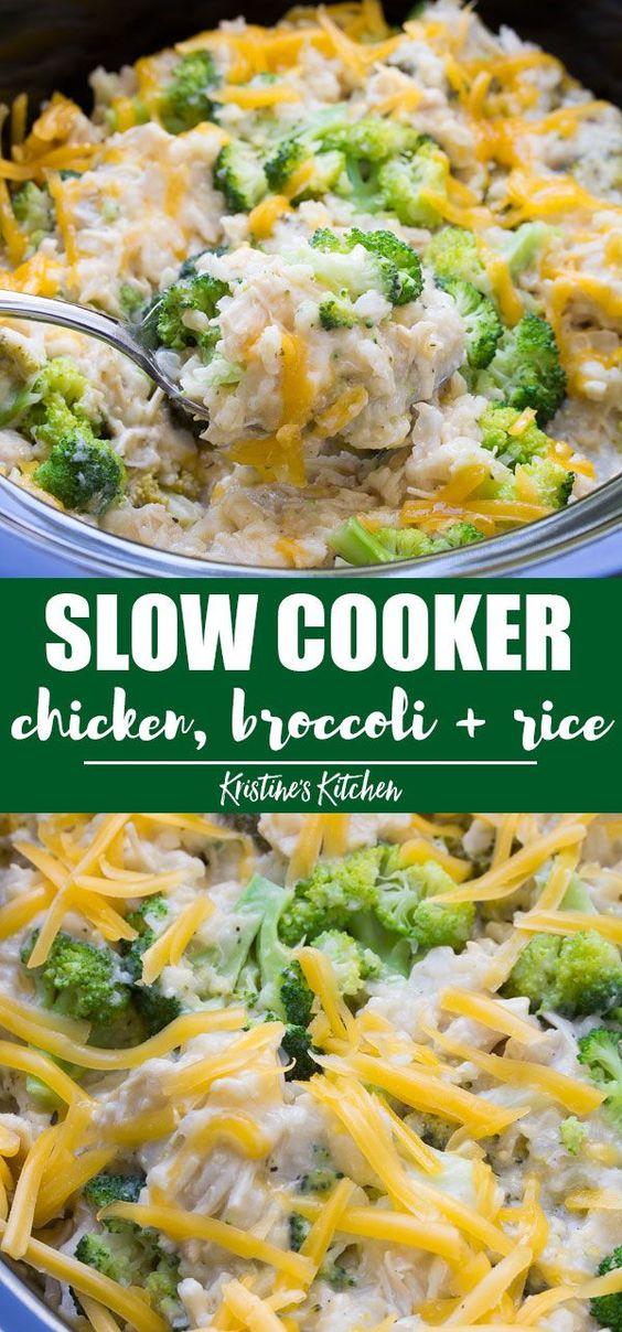 Tremendous Slow Cooker Chicken Broccoli And Rice Casserole Healthy Machost Co Dining Chair Design Ideas Machostcouk