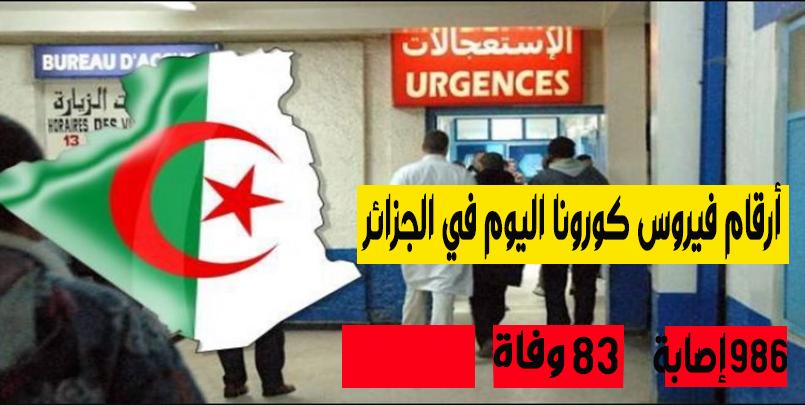 احصائيات كورونا في الجزائر