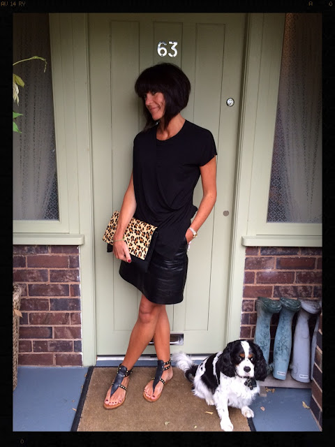 My Midlife Fashion, Leopard Print, Animal Print, Leather A Line Skirt, Zara Draped Top, Studded Sandals, Mango