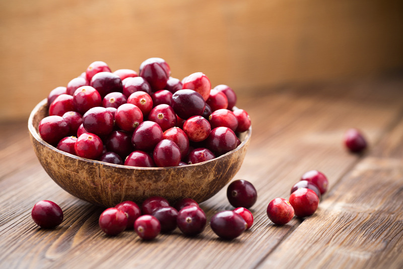 Cranberries are good for the urinary tract and can promote healthy vaginal function