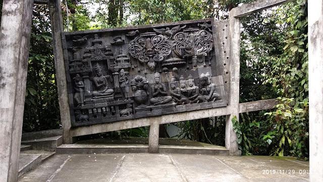 Relief Candi Borobudur di Museum Ullen Sentalu Jogja