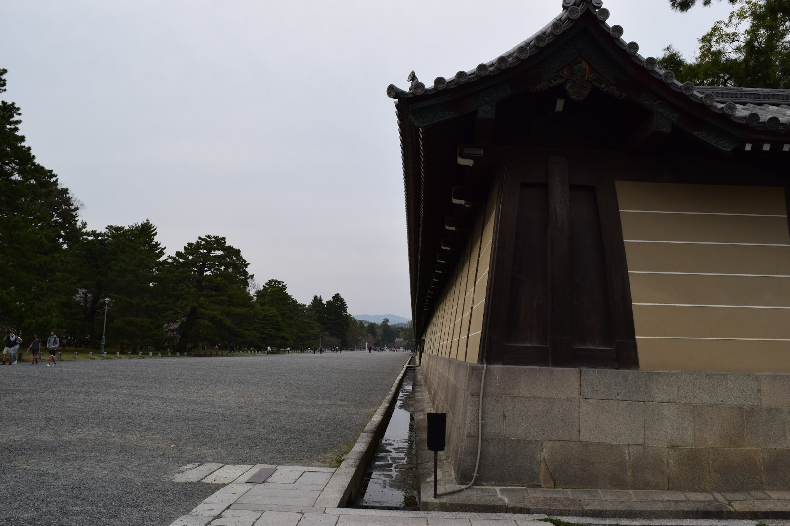 Kyoto imperial palace wall