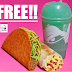 Free Food From Taco Bell! Free Nacho Cheese Doritos Locos Tacos, Grilled Breakfast Burrito  or Mountain Dew  Baja Blast Freeze