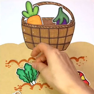 Vegetable themed Papercraft for toddlers