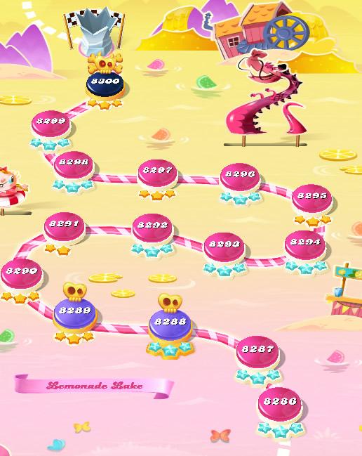 Candy Crush Saga level 8286-8300