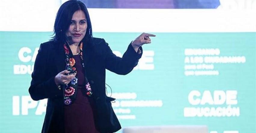 El Gobierno reafirma meta de construir 1,000 colegios, sostuvo la Ministra de Educación Flor Pablo Medina - www.minedu.gob.pe