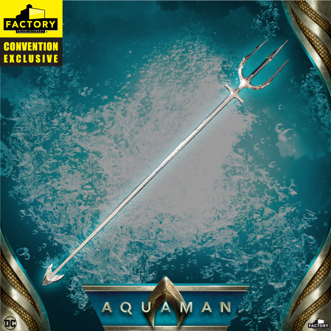 b8ec0ba8389 Aquaman Movie Ocean Silver Hero Trident Limited Edition Prop Replica SDCC  2019 Exclusive Pre-order