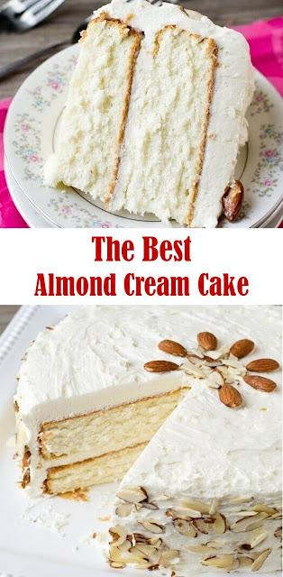 The Best Almond Cream Cake #Almond #Cream #Cake #cakedessert #cakerecipes #creamcake #dessertrecipe