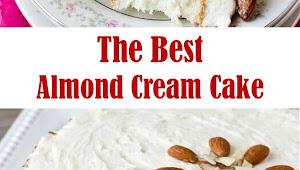 The Best Almond Cream Cake