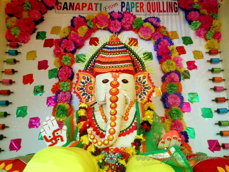 Ganpati from paper quilling,  Ganesh Chaturthi Mumbai Pandal Hopping