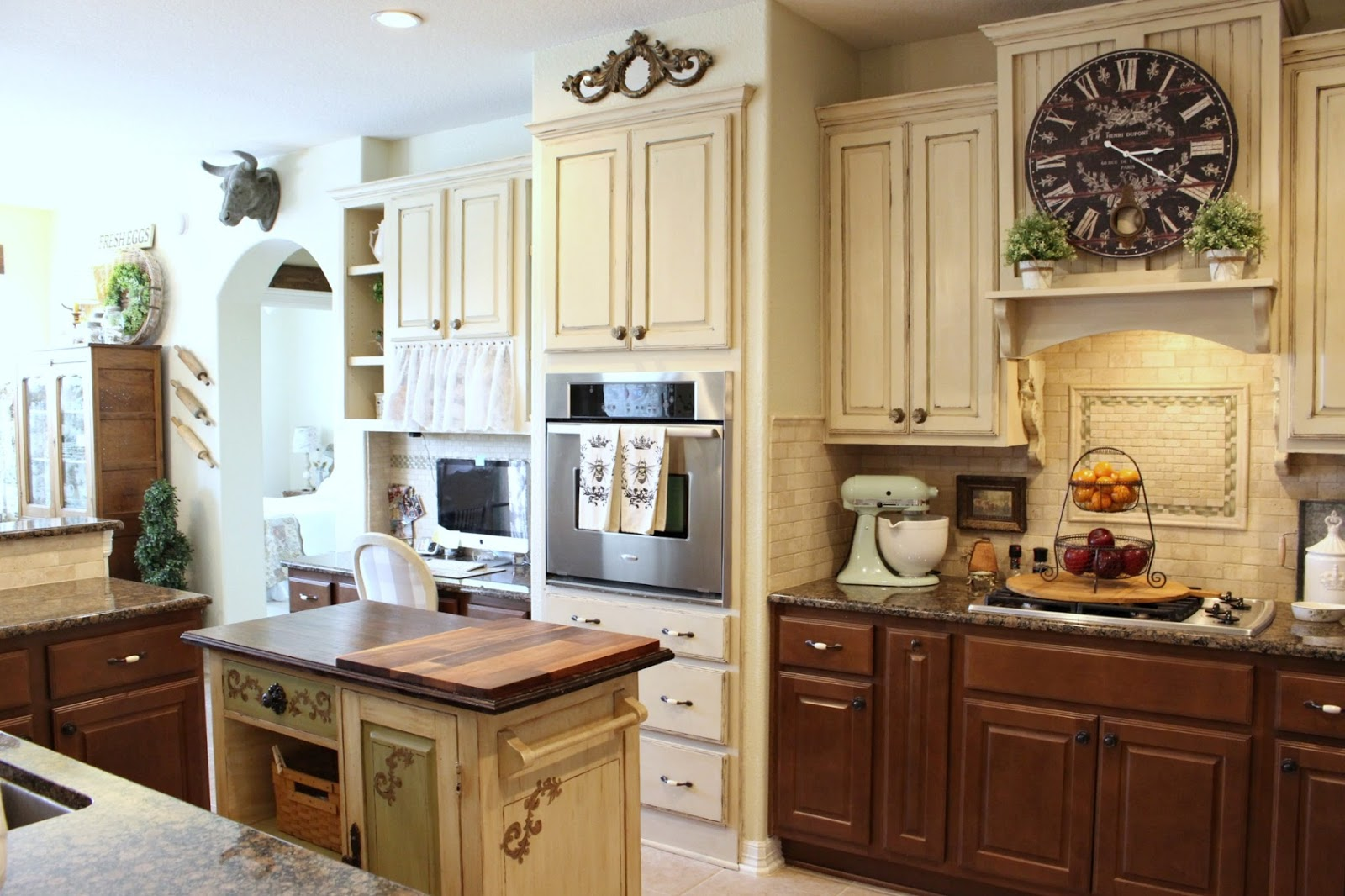 Chalk  Painted  Cabinet  Review French  Farmhouse  Kitchen  From