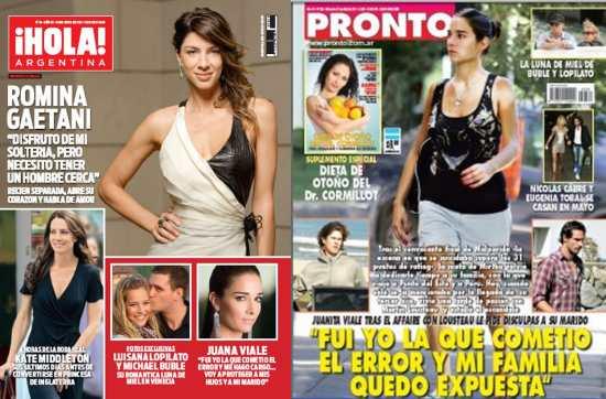 Tapas De Revistas Hola Pronto Gente Y Caras