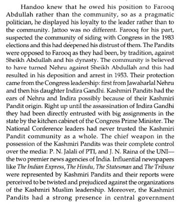 "Extract from ""Eyewitness Kashmir: Teetering on Nuclear War"" (2004) By Arun Joshi."