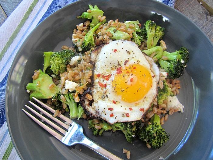 Stacey Snacks: Roasted Broccoli and Farro Salad w/ Feta