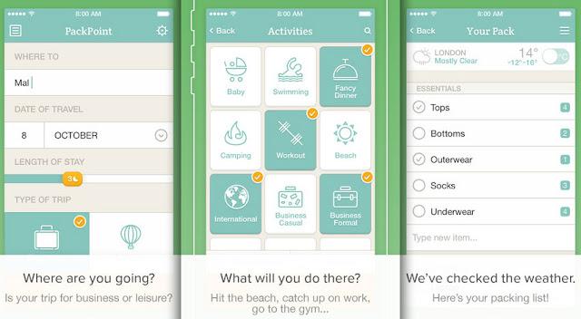 packpoint; aplikacja; app; travel app