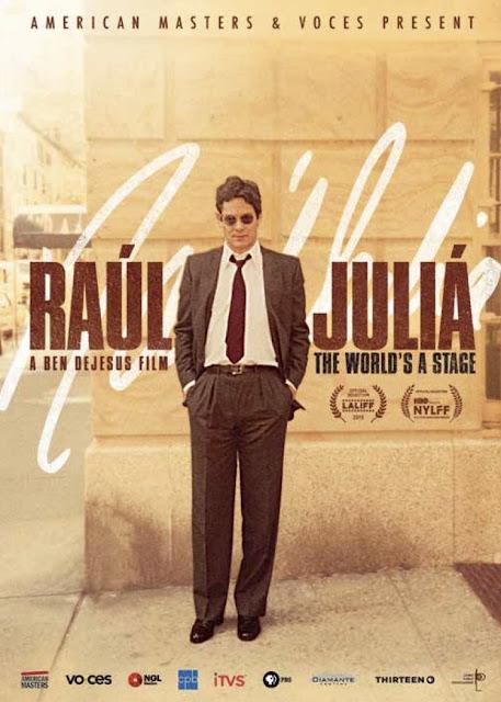 """CINE: Documental Raúl Juliá: """"El Mundo Es Un Escenario"""" se estrenará en Puerto Rico este 10 de septiembre."""
