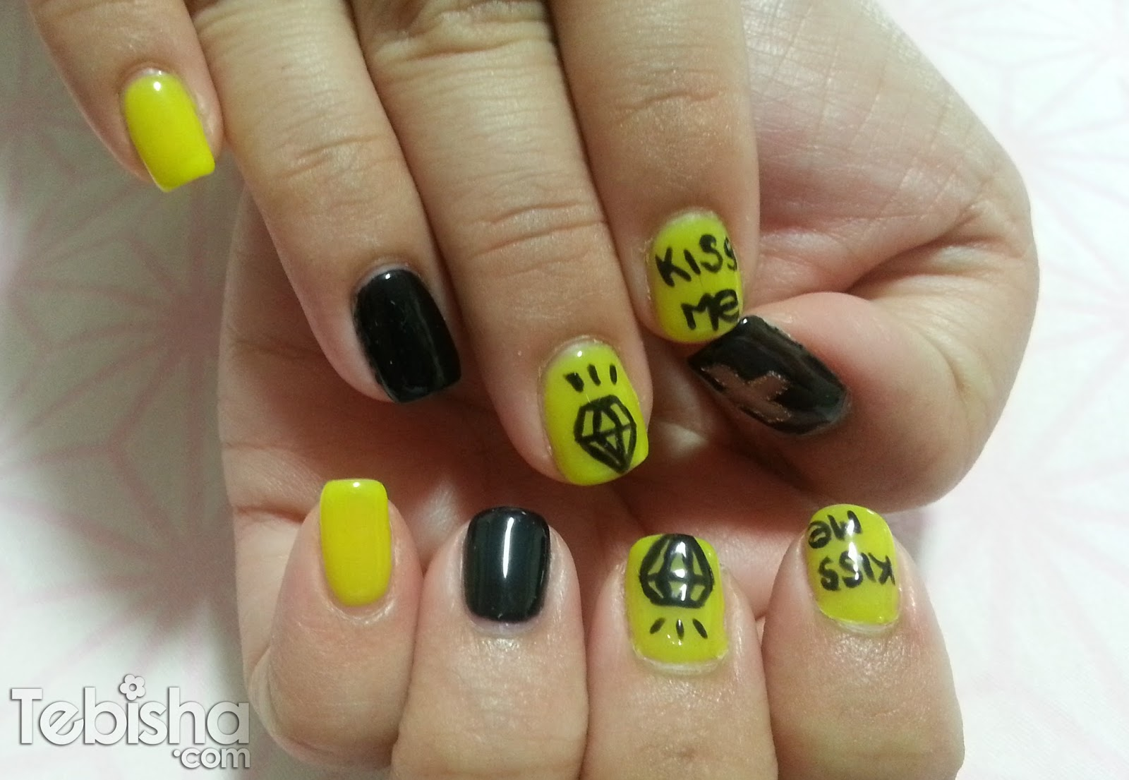 Neon Diamond Nails by GardeNails – tebisha.com