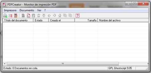 Monitor de impresión PDF