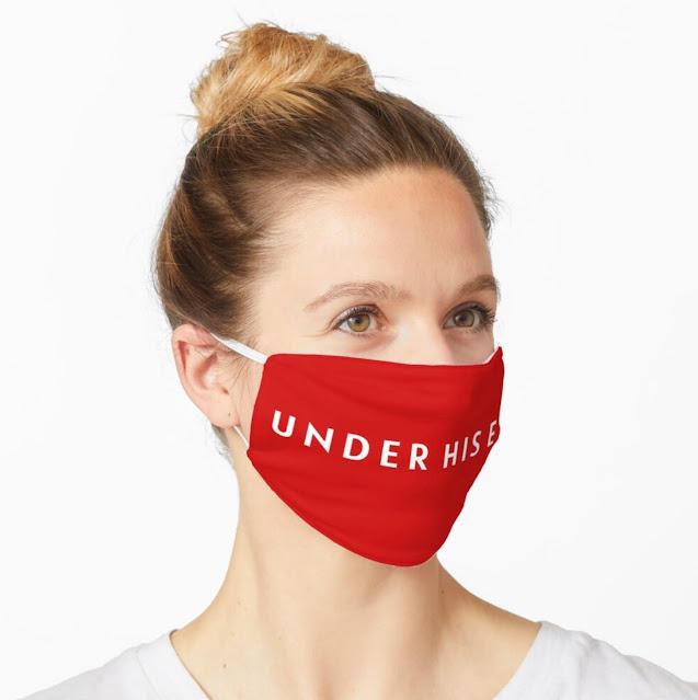 Under His Eye - handmaids face mask
