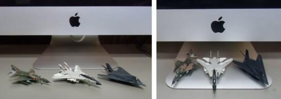 ミニチュア軍用機(1/200スケール3機種)