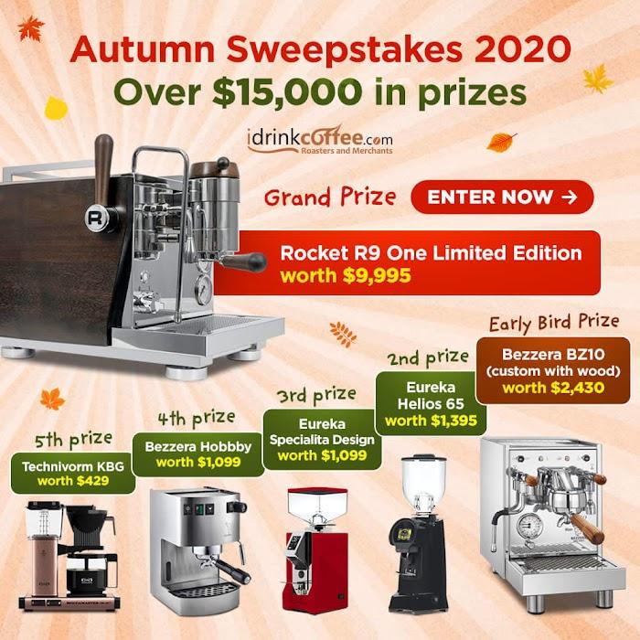 Limited Edition Espresso Machine Giveaway + 5 Espresso Machine (Worth Over : $15000)
