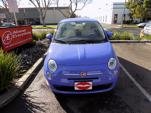 Fiat 500 after complete color change at Almost Everything Auto Body