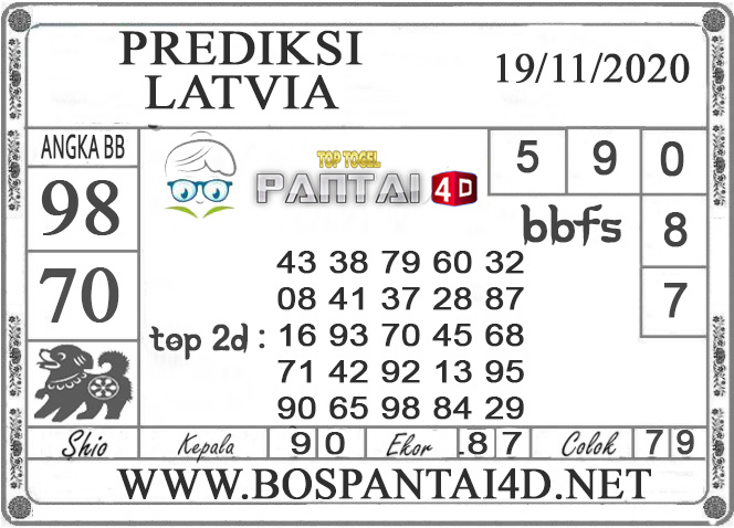 PREDIKSI TOGEL LATVIA PANTAI4D 19 NOVEMBER 2020