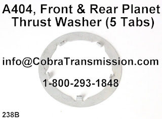 Cobra Transmission Parts 1-800-293-1848: A404, 30Th