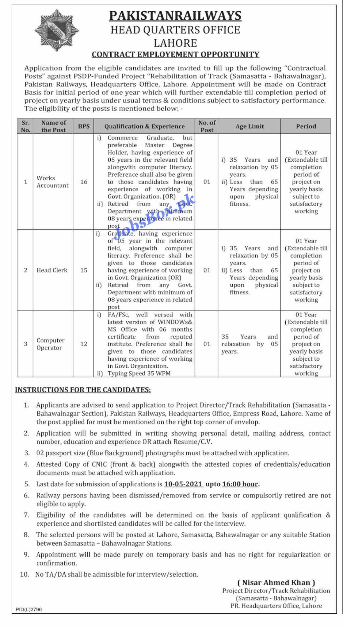 Latest Pakistan Railways Jobs 2021