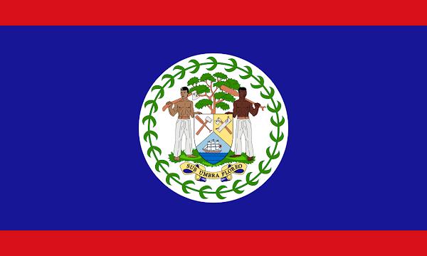 Logo Gambar Bendera Negara Belize PNG JPG ukuran 600 px