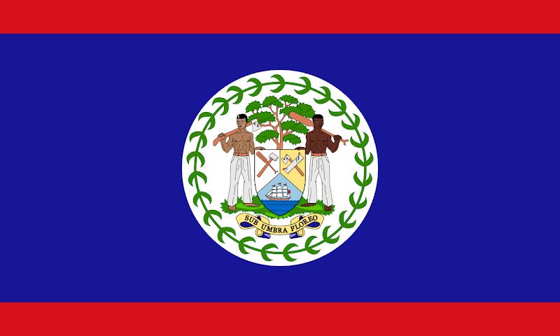 Logo Gambar Bendera Negara Belize PNG JPG ukuran 800 px