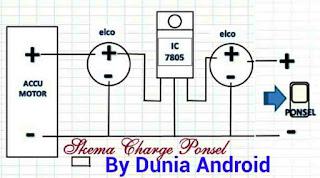 skema charge ponsel Cara Membuat Charger Hp di Sepeda motor dari aki Secara Sederhana