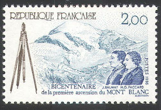 France 1986 Mountains Mt Blanc Jacques Balmat and Dr. Michel-Gabriel Paccard