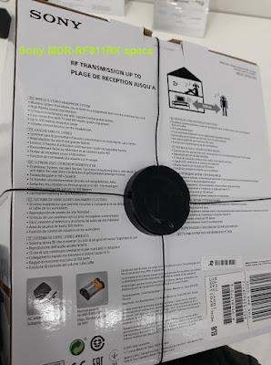 Sony MDR-RF811RK headphones specs