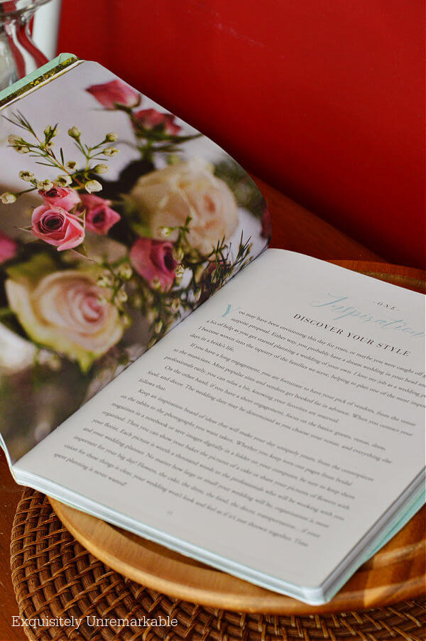 Wedding Planner Inspiration page of book