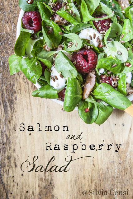 salmon raspberry salad