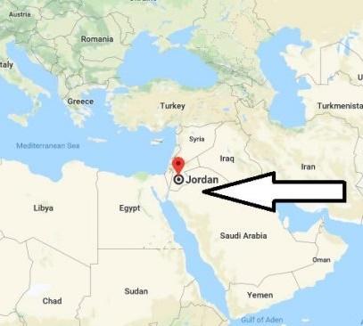 Ürdün harita