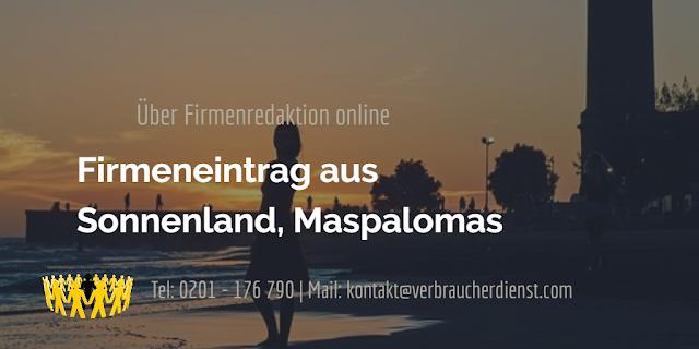 Firmenredaktion online  Firmeneintrag aus Sonnenland, Maspalomas