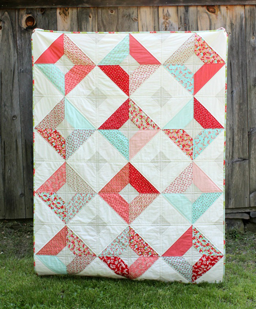 Double-Sided Diamond Quilt designed by Michelle Cain of From Bolt to Beauty for Moda Bake Shop
